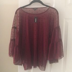 Express see-through blouse